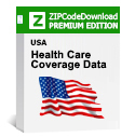 Picture of Health Care Coverage by Zip Code Database, Premium Edition