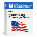 Picture of Health Care Coverage by Zip Code Database, Commercial Edition