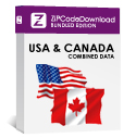 USA 5-digit Zip Code Database & Canadian 6-digit Postal Code