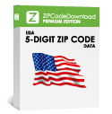Picture of USA - 5-digit ZIP Code Database, Premium Edition (Redistribution License)