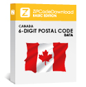 Picture of Canada - 6-digit Postal Code Data, Basic Edition (Redistribution License)